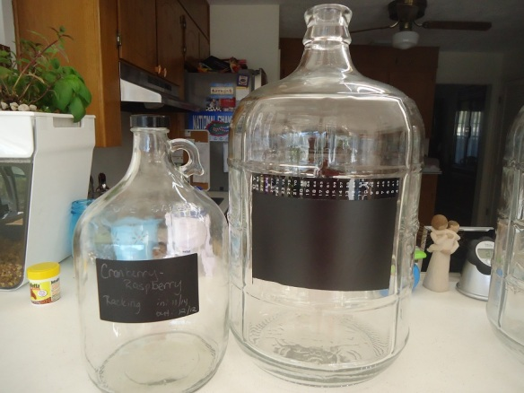 finished carboy and gallon bottle