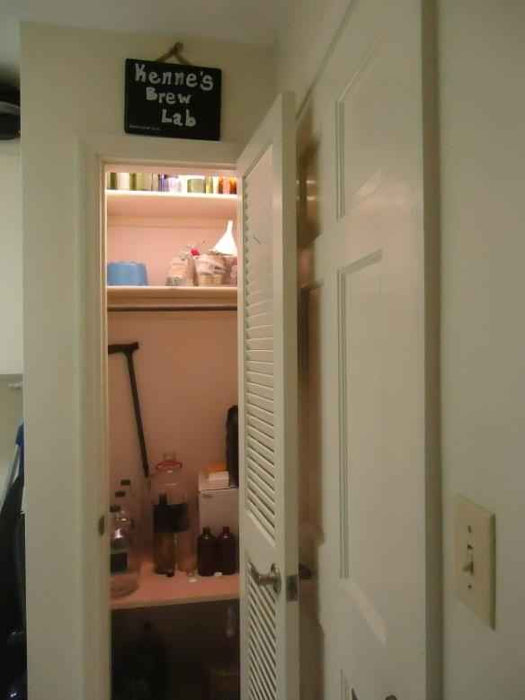 the closet (inside)