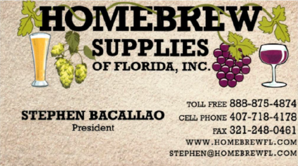 homebrew supplies card